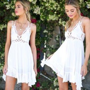 LAST CALL! BOHO Crochet Lace Trim Slip Dress 👗🌞
